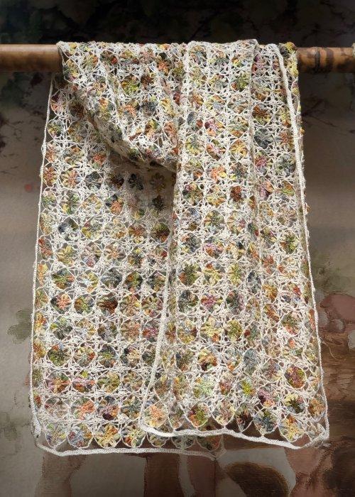 Sophie Digard | Large Crochet Scarf | Linen | Alchemilla -