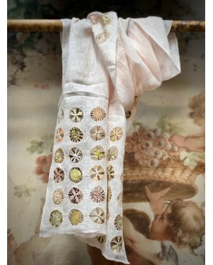 Sophie Digard - Aristocreate - Embroidered Scarf - Linen