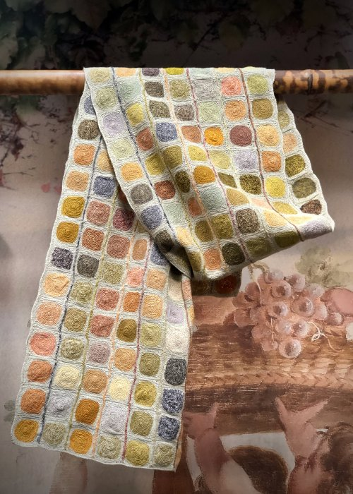 Sophie Digard | Large Crocheted Linen Scarf | Peas