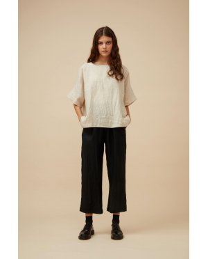 Widdess - Tuesday Top -Linen - Natural