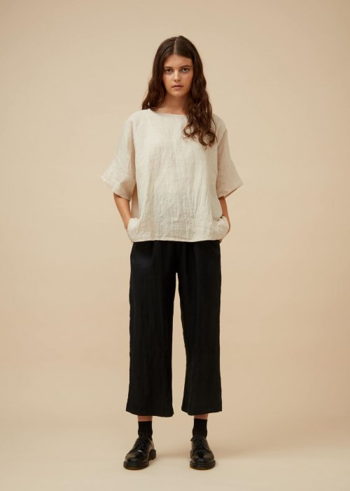 Widdess | Tuesday Top | Natural | 100% Linen