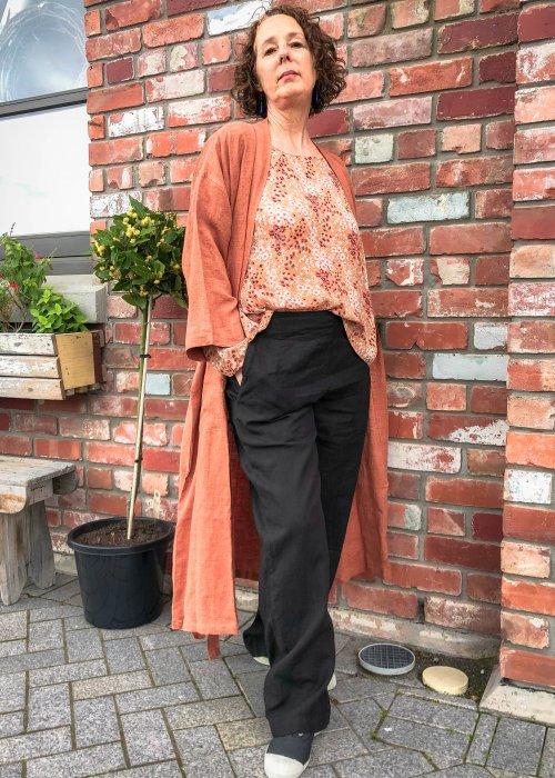 Bianca Lorenne | 100% linen Housecoat | Cinnamon