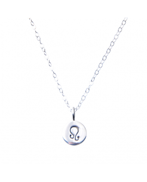 Pam Kerr Designs | Sterling Silver Zodiac Charm Necklace | 5-Leo