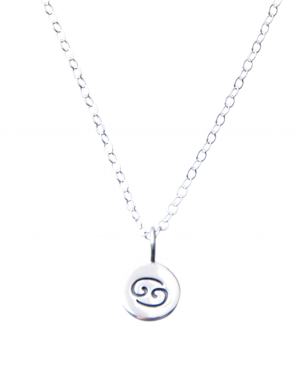 Pam Kerr Designs | Sterling Silver Zodiac Charm Necklace | 4 - Cancer